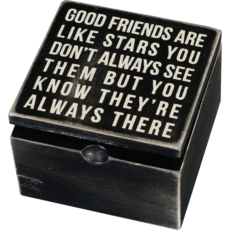 Hinged Box - Good Friends Are Like Stars You Never