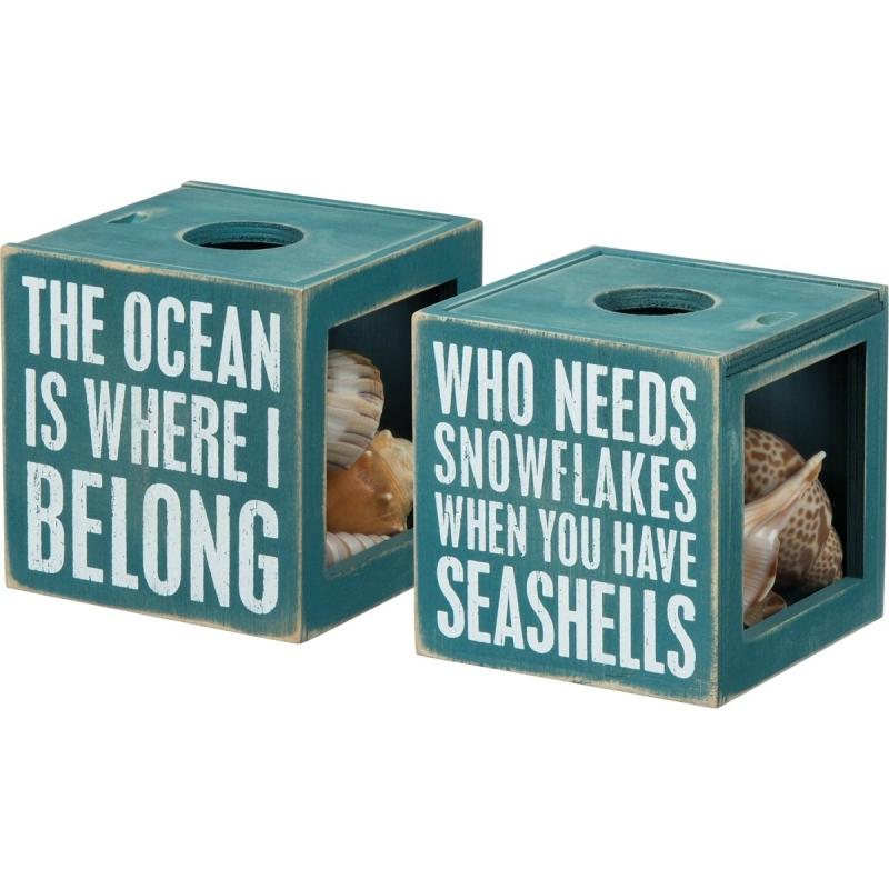 Sea Shell Holder - The Ocean Is Where I Belong