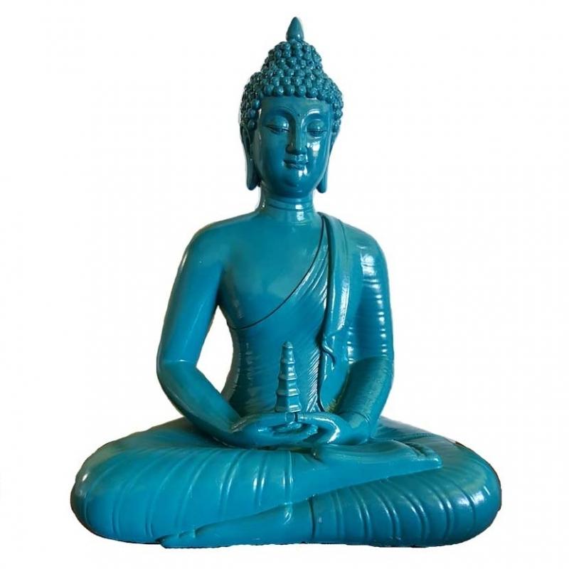 "12"" Sitting Buddha blue"