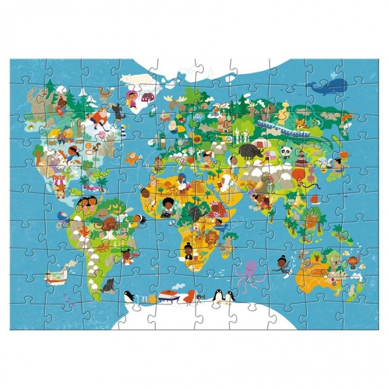 Puzzle World Map 100 Pieces