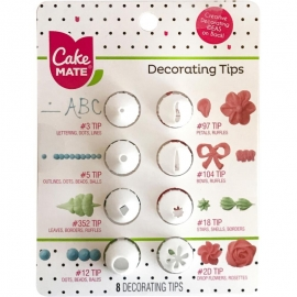 Cake Mate® Decorating Tips 8/Pkg