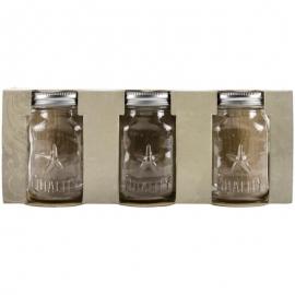 Idea-Ology Mini Glass Mason Jars 3/Pkg