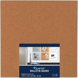 """Quartet Cork Bulletin Board Tile 14""""X14"""""""