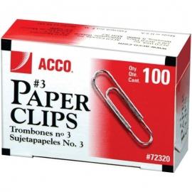 ACCO Economy #3 Paper Clips 100/Pkg