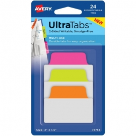 """Avery Multiuse Two-Side Writable Ultra Tabs 2""""X1.5"""""""