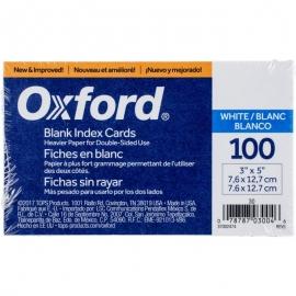 "Oxford Index Cards 3""X5"" 100/Pkg"