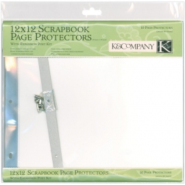 """K&Company Post Bound Page Protector Refills 12""""X12"""" 10/Pkg"""