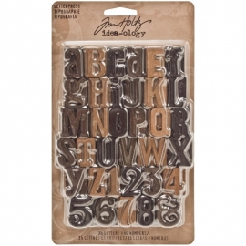 Idea-Ology Wooden Letterpress Letters 35/Pkg