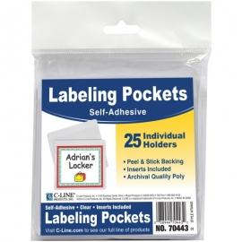 "Self-Adhesive Labeling Pockets 3.75""X3"" 25/Pkg"