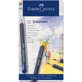 Goldfaber Colored Pencil Set In Metal Tin 12/Pkg