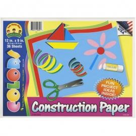 "Construction Paper Pad 12""X9"""