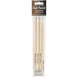 Real Slate Chalk Pencils 5/Pkg W/Sharpener
