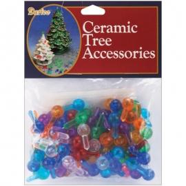 "Ceramic Christmas Tree Bulbs .5"" 100/Pkg"