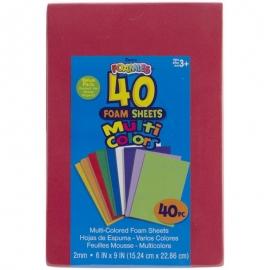 """Foam Sheets 6"""" X9"""" 40/Pkg"""