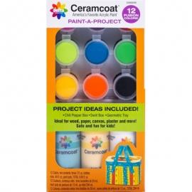Ceramcoat Paint-A-Project Paint Set 12/Pkg