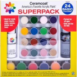 Ceramcoat Paint Superpack Set 24/Pkg