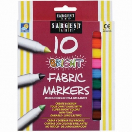 Bright Fabric Markers 10/Pkg