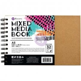 Prima Marketing Mixed Media A5 Spiral Bound Kraft Book