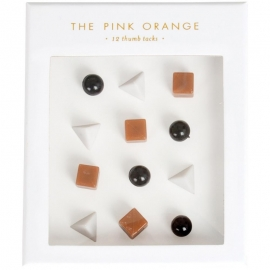 The Pink Orange Thumb Tacks In Gift Box 12/Pkg