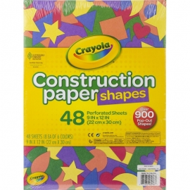 """Crayola Construction Paper Shapes 9""""X12"""""""