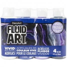 DecoArt FluidArt Paint Pouring Value Pack 4/Pkg