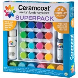 Ceramcoat Paint Set Superpack 24/Pkg