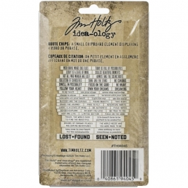 Idea-Ology Chipboard Quote Chips 47/Pkg