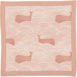 Security Blanket - Whales Pink