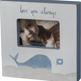 Box Frame - Love Blue Whale
