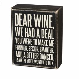 Box Sign - Dear Wine