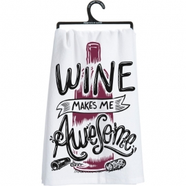 Dish Towel - This Wine Is Making Me Awesome