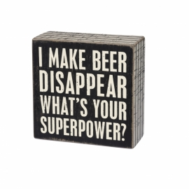 Box Sign - Beer Disappear