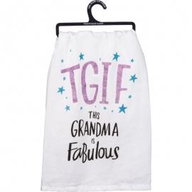 Dish Towel - TGIF This Grandma Is Fabulous