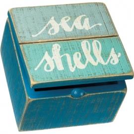 Slat Hinged Box - Sea Shells
