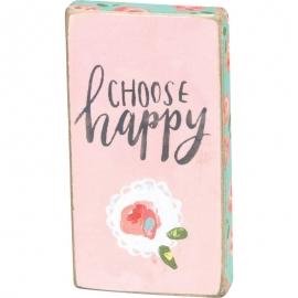 Block Magnet - Choose Happy