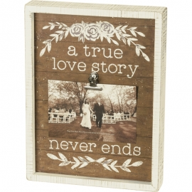 Inset Box Frame - A True Love Story Never Ends