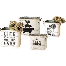 Bin Set - Farm House / Farm Sweet Farm House