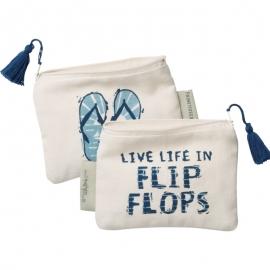 Zipper Wallet - Live Life In Flip Flops