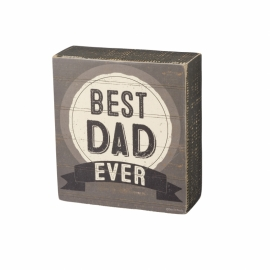 Box Sign - Best Dad Ever