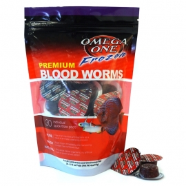 One Frozen Blood Worms Fish Food