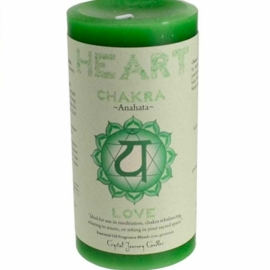 3x6 Heart Chakra pillar candle