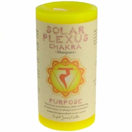 3x6 Solar  Chakra pillar candle