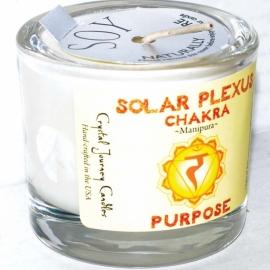 Solar chakra soy votive candle