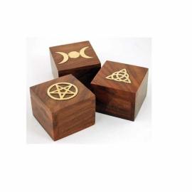 Brass Inlaid Box (various designs)
