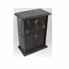 Pentagram & Celtic Cross altar cupboard
