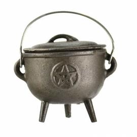 "Pentagram cast iron cauldron 4"""