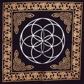 18x18 Seed of Life altar cloth