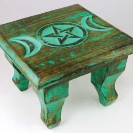 Antiqued Triple Moon altar table