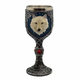 """7 1/2"""" White Wolf chalice"""