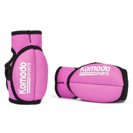 Pink Weighted Gloves Wrist Hand Fitness Training